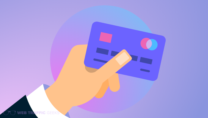 Buying Website Traffic with a Credit Card: Credit card
